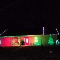 Christmas Lights in Elk City by Jane Osburn