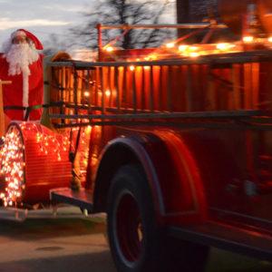 Santa Arrives for delivering gifts
